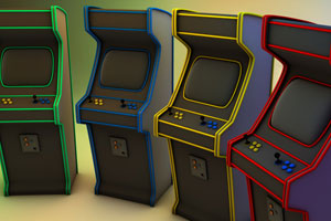 Arcade Machines of Assorted Color