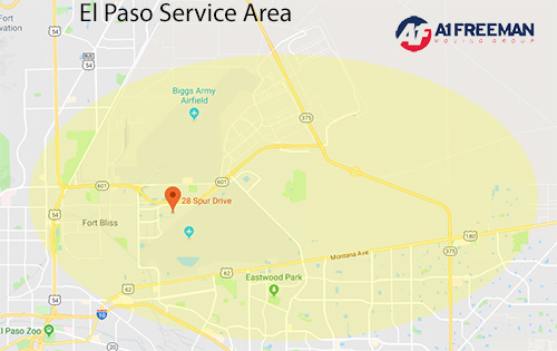 A-1 Freeman El Paso Service Area Map