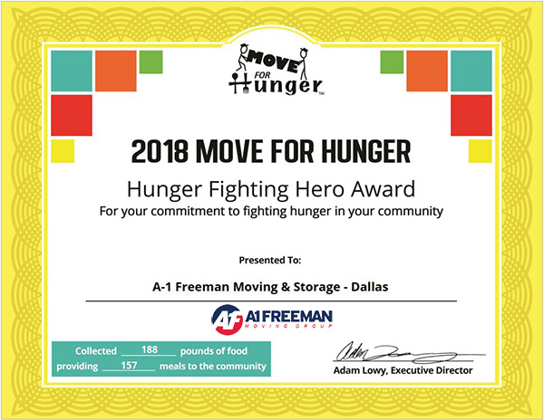 Moving Hero Certificate