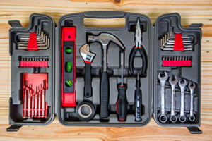 Household tool case-moving supplies